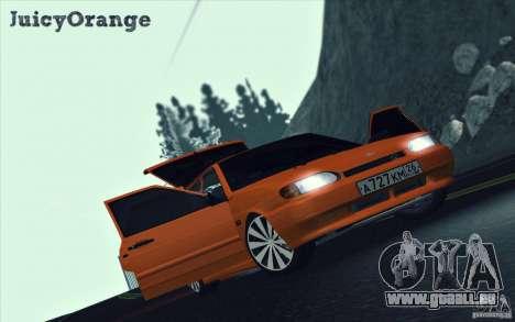 ВАЗ 2114 Orange juteuse pour GTA San Andreas vue intérieure