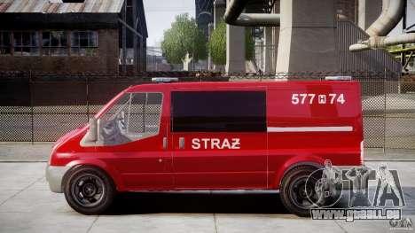 Ford Transit Polish Firetruck [ELS] für GTA 4 linke Ansicht