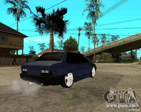 VAZ 21099 léger Tuning par Calvo pour GTA San Andreas sur la vue arrière gauche