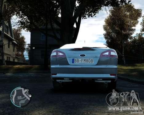 Ford Mondeo 2009 v1.0 pour GTA 4 Vue arrière