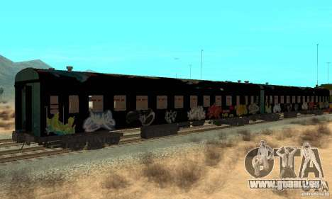 Custom Graffiti Train 1 für GTA San Andreas rechten Ansicht