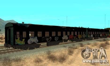 Custom Graffiti Train 1 pour GTA San Andreas vue de droite