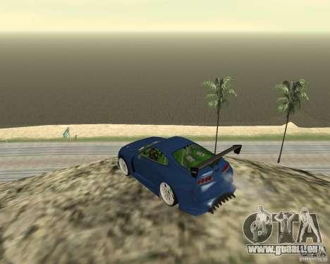 Toyota Supra TwinTurbo pour GTA San Andreas vue de dessous