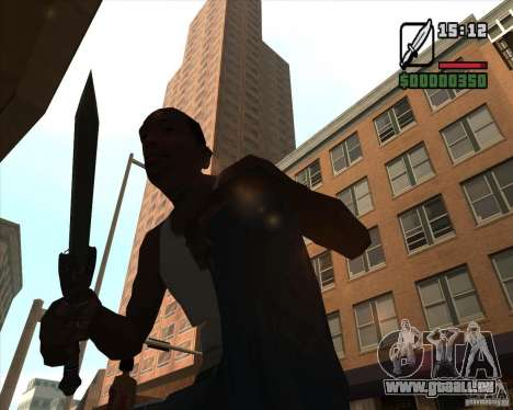 Gladius Knife für GTA San Andreas dritten Screenshot