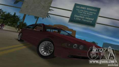 BMW 5S Touring E39 pour une vue GTA Vice City de l'intérieur
