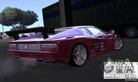 Ferrari 512 TR pour GTA San Andreas laissé vue