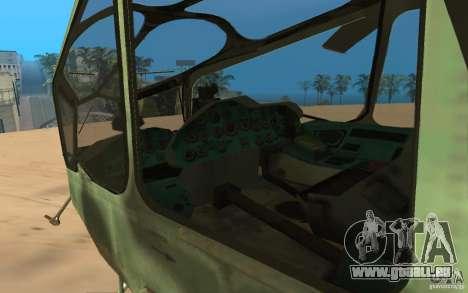 MI-24A für GTA San Andreas Rückansicht