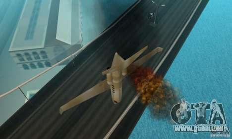 Gold shamal pour GTA San Andreas vue arrière