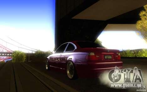 BMW M3 E46 V.I.P für GTA San Andreas Rückansicht