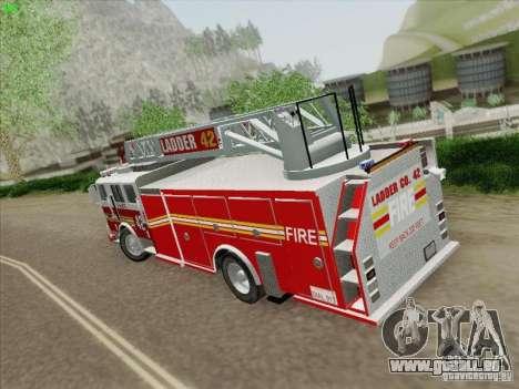 Seagrave Ladder 42 pour GTA San Andreas vue de droite