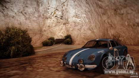 Renault Alpine A110 1600S Rally pour GTA San Andreas