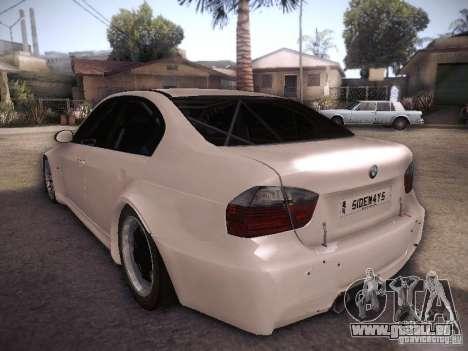 BMW 320SI Drift für GTA San Andreas zurück linke Ansicht