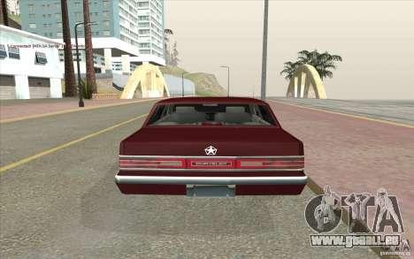 Chrysler Dynasty pour GTA San Andreas sur la vue arrière gauche