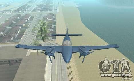 Beechcraft Baron 58 T pour GTA San Andreas vue de droite