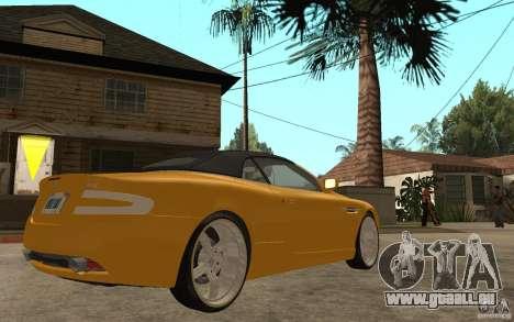 Aston Martin DB9 Volante pour GTA San Andreas vue de droite