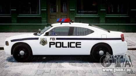 Dodge Charger FBI Police für GTA 4 hinten links Ansicht