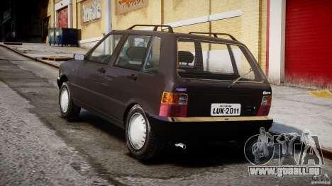 Fiat Uno 70SX 1989-1993 für GTA 4 Seitenansicht