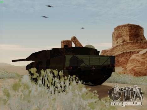 Leopard 2A6 pour GTA San Andreas sur la vue arrière gauche