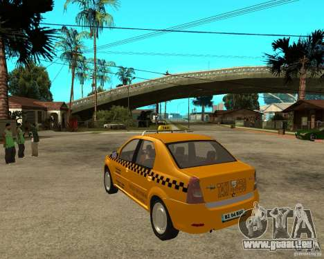 Dacia Logan Taxi Bucegi pour GTA San Andreas sur la vue arrière gauche