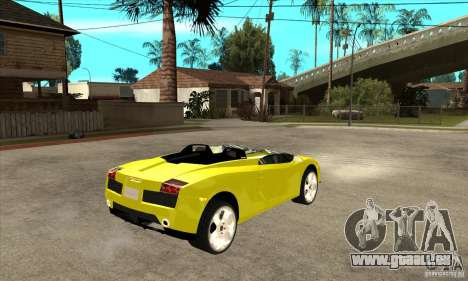 Lamborghini Concept S pour GTA San Andreas vue intérieure