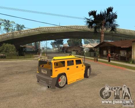 Hummer H2 pour GTA San Andreas vue de droite
