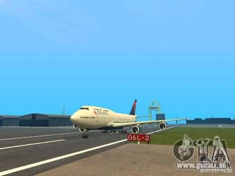 Boeing 747-400 Delta Airlines für GTA San Andreas