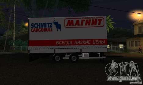 Remorque pour Scania R620 pour GTA San Andreas laissé vue