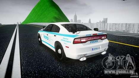 Dodge Charger NYPD 2012 [ELS] pour GTA 4 Vue arrière de la gauche