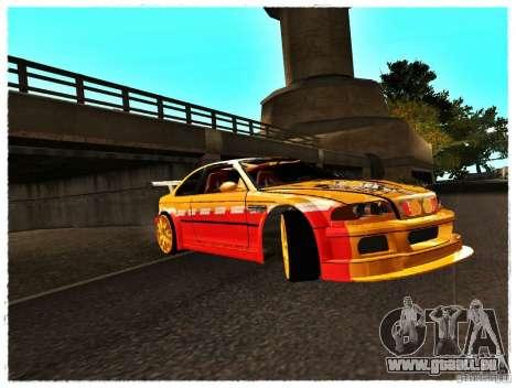 BMW M3 Calibri-Ace pour GTA San Andreas laissé vue
