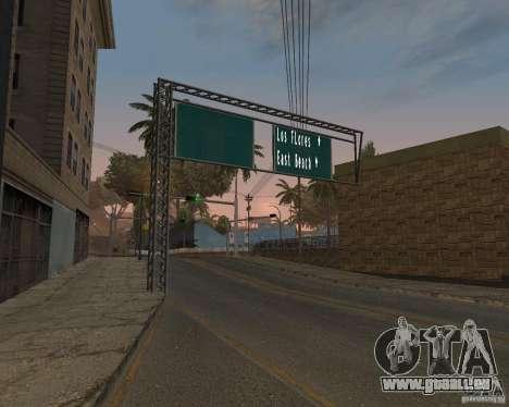 Route signes v1.0 pour GTA San Andreas deuxième écran