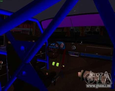 VAZ 2101 Drift voiture pour GTA San Andreas vue arrière