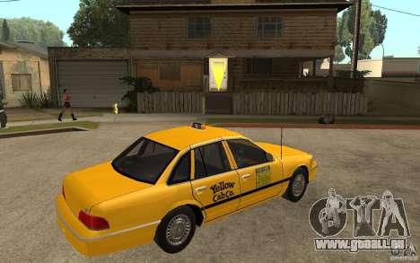 Ford Crown Victoria Taxi 1992 für GTA San Andreas rechten Ansicht