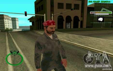 Mechanik HD Skin pour GTA San Andreas deuxième écran