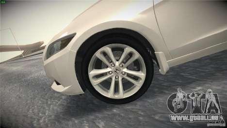 Honda CR-Z 2010 V1.0 für GTA San Andreas Unteransicht