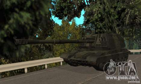 Msta-s 2s19, version standard pour GTA San Andreas laissé vue