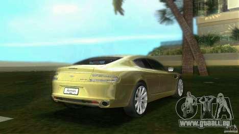 Aston Martin Rapide pour GTA Vice City sur la vue arrière gauche