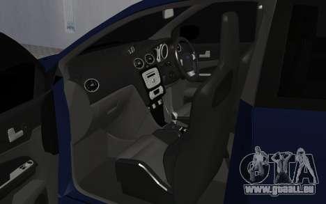 Ford Focus RS pour GTA San Andreas vue arrière