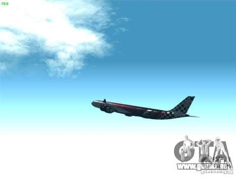 Airbus A340-600 Etihad Airways F1 Livrey für GTA San Andreas Innenansicht