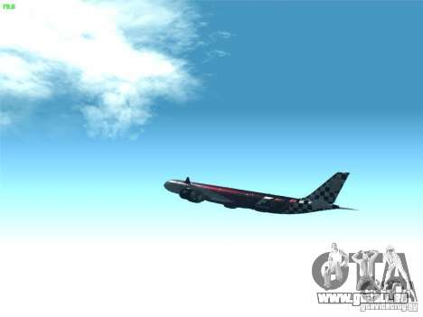 Airbus A340-600 Etihad Airways F1 Livrey pour GTA San Andreas vue intérieure