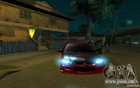 Mitsubishi Evo 8 Tuned pour GTA San Andreas vue intérieure