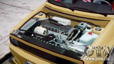 Volkswagen Golf MK2 Tuning pour GTA 4 est une vue de l'intérieur