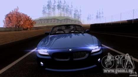 BMW Z4 V10 pour GTA San Andreas laissé vue