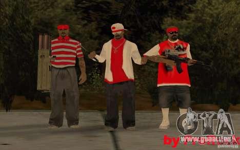 Nouveaux skins de The Los Aztecas Gang pour GTA San Andreas