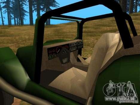 Nouveau BF Injection pour GTA San Andreas vue arrière