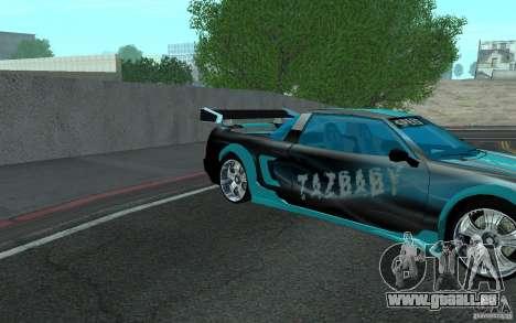 Baby blue Infernus pour GTA San Andreas vue de droite