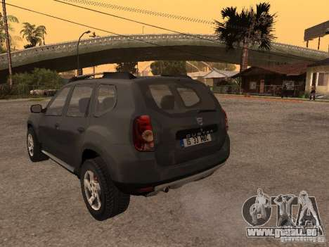 Dacia Duster pour GTA San Andreas vue arrière