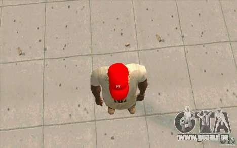 Newyorkyankiys Cap Rouge pour GTA San Andreas troisième écran
