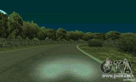 L'itinéraire du rallye pour GTA San Andreas troisième écran