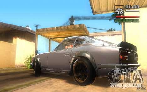 Datsun 240ZG pour GTA San Andreas sur la vue arrière gauche