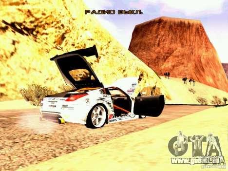 Nissan 350Z Avon Tires pour GTA San Andreas vue de droite